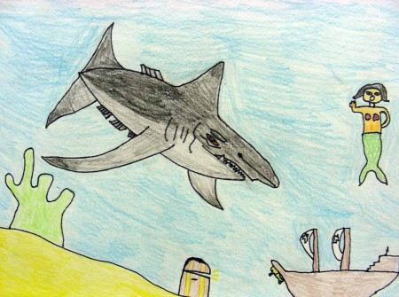 Jacob age11 Step-by-Step Drawing for the Shark